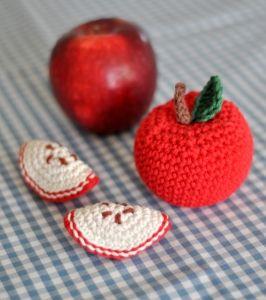 Detaljbild - äpple och klyftor