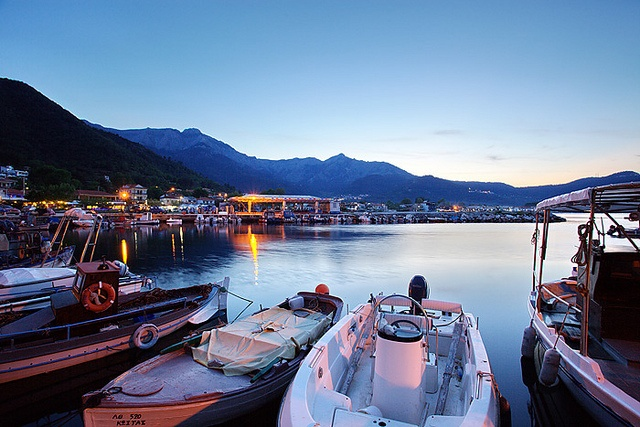 Greece: Harbour in Skala Potamia, Thassos