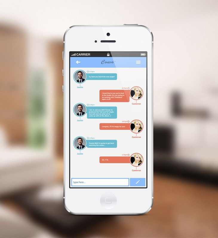 Convo' – Message App Concept