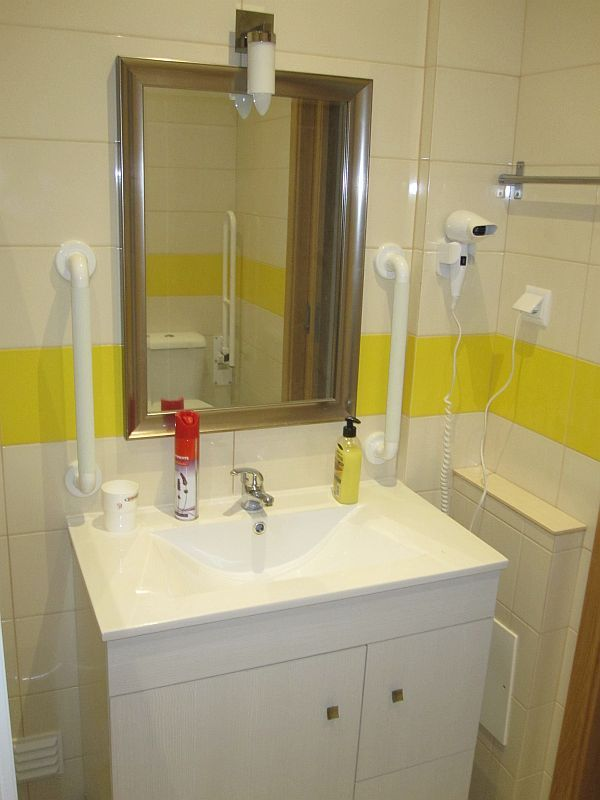 Bathroom designed for wheelchair access and use by the more infirm travellers