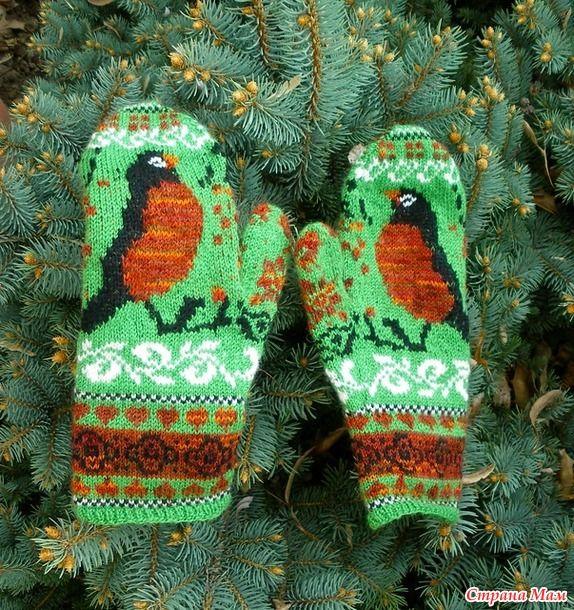 Красивые варежки, схема :  Палец... источник http://prjaga.ru/