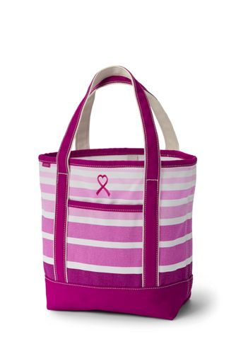 Pink+Print+Canvas+Tote+Collection+from+Lands'+End  Size Medium WITH MY INITIALS ~ ARB