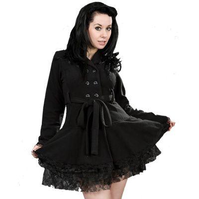 Dark jacket black fleece - Burleska www.attitudeholland.nl