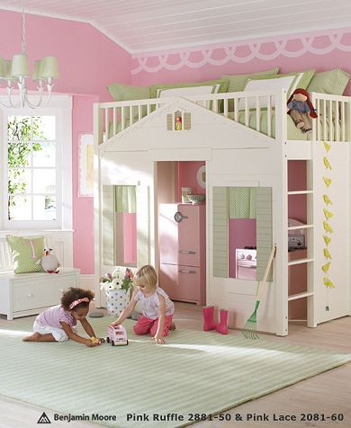 I need two like this for my girls, and two forts for my boys, and bigger bedrooms to fit it all!