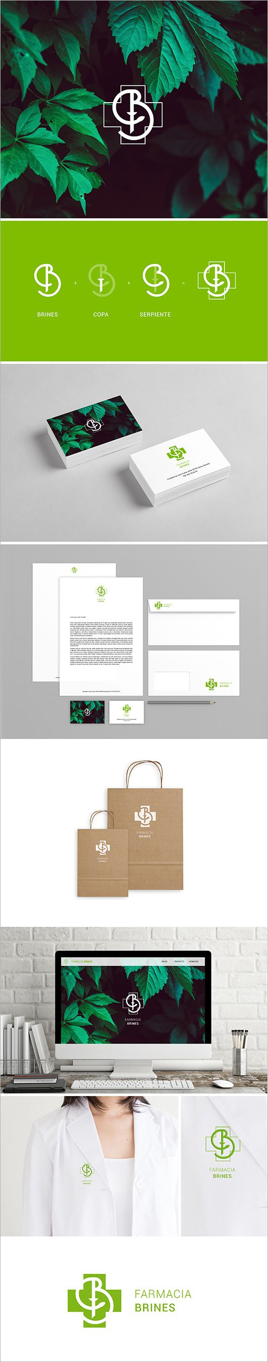 36 best logos images on pinterest medicine cards and graphic art farmacia brines by mimo magicingreecefo Images