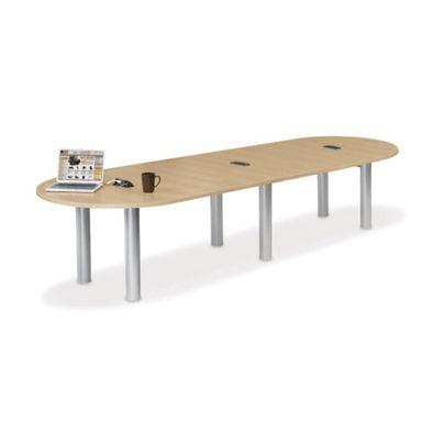 12 w racetrack conference table with data ports for 12 conference table