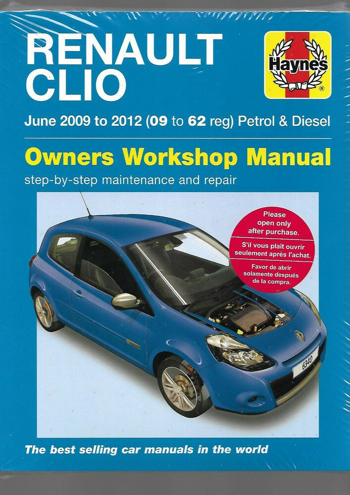 Haynes New Sealed Renault Clio Sport Tourer Owners Workshop Manual 2009 2012 P D Achat