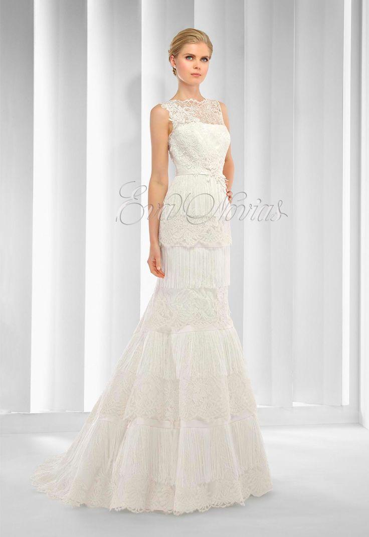 Tienda de vestidos de novia Patricia Avendaño colección 2015 modelo 2592 en Eva Novias Madrid calle Goya, 84 Teléfono 914359458