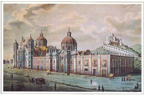 """Así lucía el Tepeyac y sus alrededores en  la mitad del Siglo XIX """"La Villa de Guadalupe"""""""