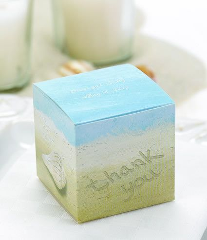 Beach Theme Seaside Jewels Wedding Favor Boxes (25 Pack)