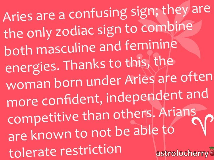 Aries traits.  This is totally me.  Als