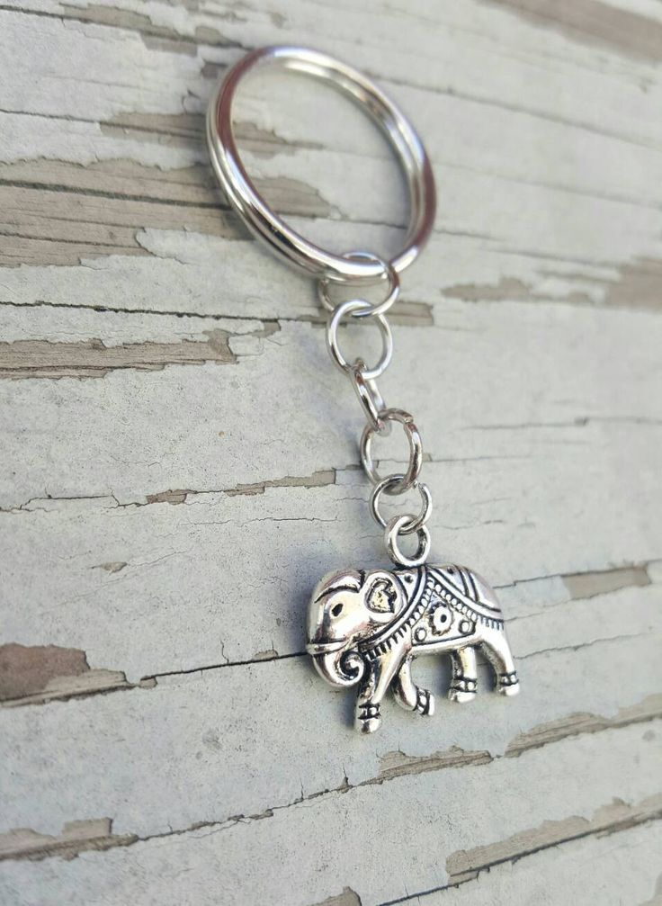 Free Shipping in the US!- Elephant Keychain- Keychains- Elephants- Gift for Her- Birthday Gift- Gift for Best Friend- Elephant Lover Gift