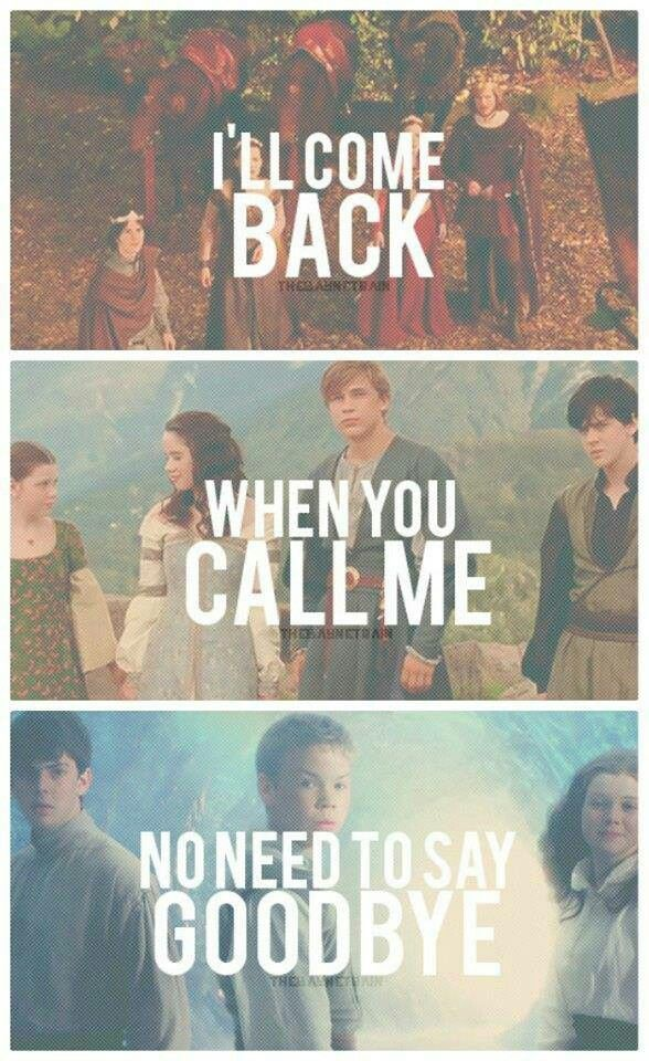 The end of all 3 movies. I think i'll always love chronicles of Narnia.:
