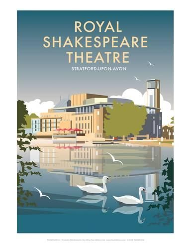 Royal Shakespeare Theatre - Dave Thompson Contemporary Travel Print Kunstdruk
