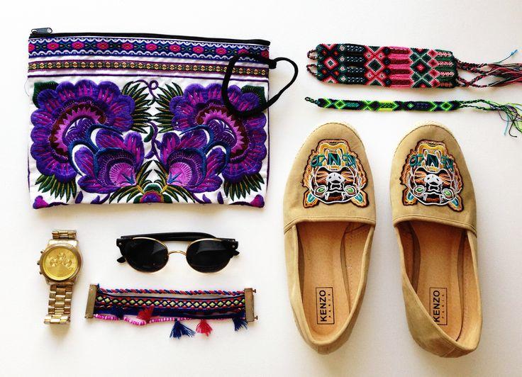 zapatos kenzo, hippie chic, playa del carmen, soy tendencia, cartera bali