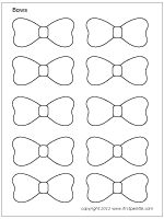 17 best chocolate images on pinterest bow template drawings and free printable bows to color and use for crafts and other learning activities pronofoot35fo Image collections