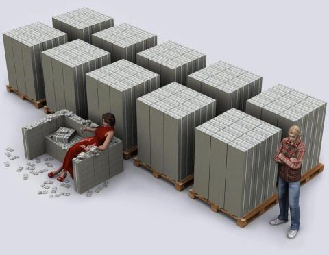 This is one billion dollars in hundred dollar bills.