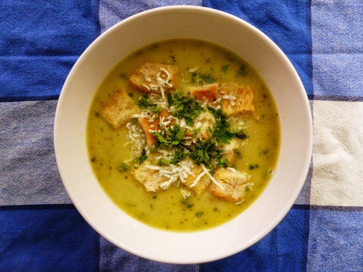Cuketová polévka s nivou
