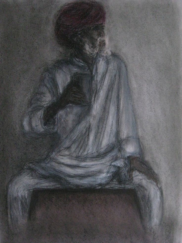 India (crayon on paper)