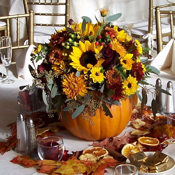 241 best images about ideas for the wedding on pinterest for Fall fake flower arrangement ideas