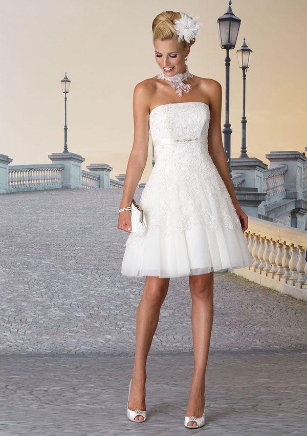 Die besten 17 Ideen zu Brautkleid Kurz auf Pinterest  Hochzeitskleid ...