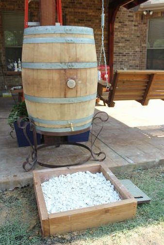 Rustic Rain Barrel