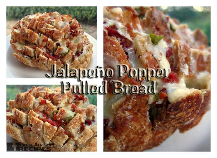 South African Recipes JALAPEÑO POPPER PULLED BREAD (Steph from PlainChicken)