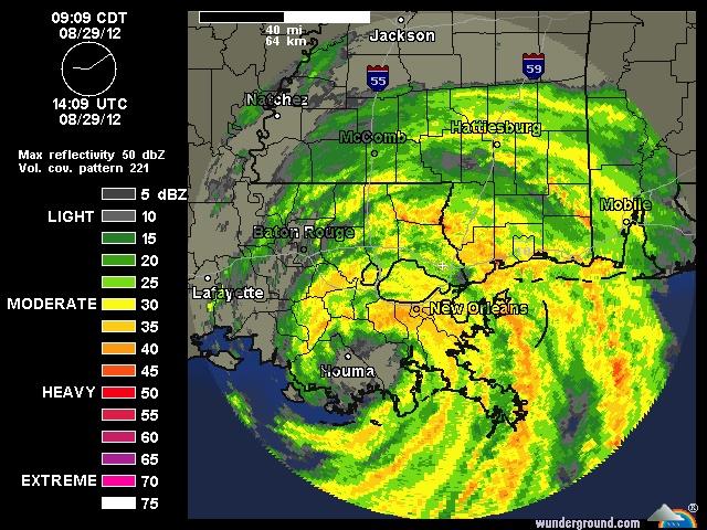 Weather Radar for New Orleans Weather underground, New