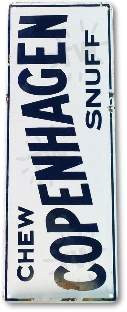 "TIN SIGN ""Chew Copenhagen Snuff"" Tobacco Metal Decor Art Shop Store Bar A291 # in Collectibles, Decorative Collectibles, Signs | eBay"