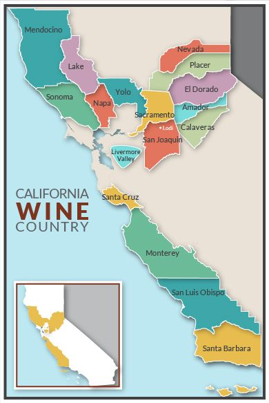 California Wine Country Sunlight Held By Water Wine In 2019