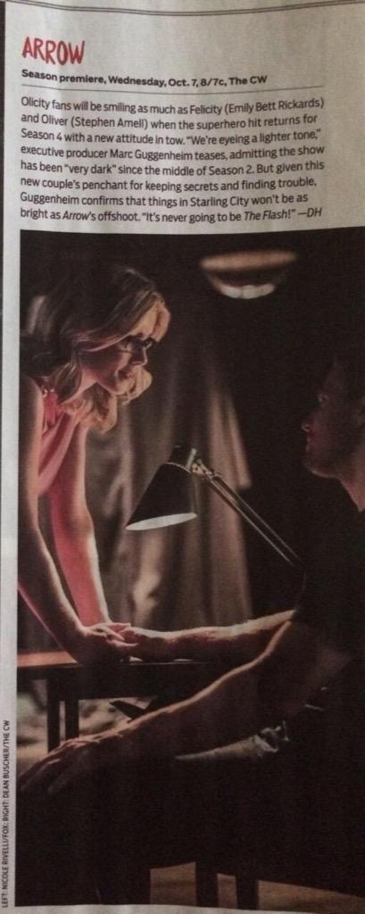 Oliver & Felicity #Arrow #Season4 #Olicity