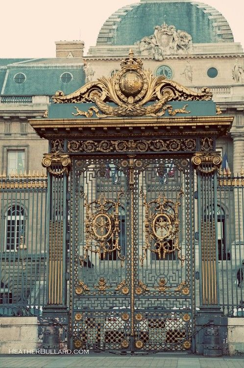 French architecture is beautifully ornate... and wonderfully gaudy.   Paris, France