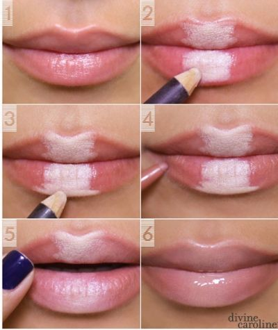 How to make your lips look bigger :)