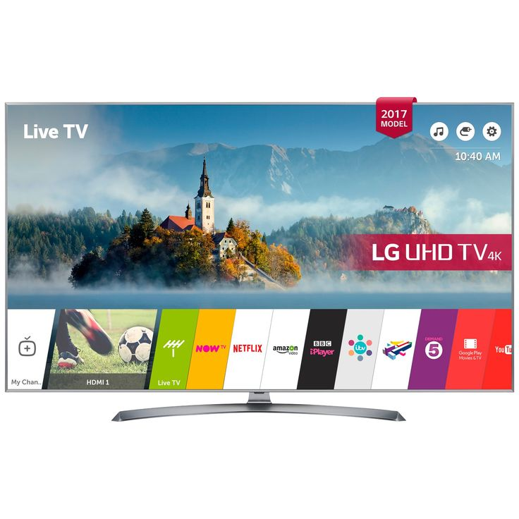 "Buy LG 43UJ750V LED HDR 4K Ultra HD Smart TV, 43"" With Freeview Play & Crescent Stand, Silver from our View All TVs range at John Lewis. Free Delivery on orders over £50."