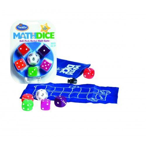 A Math Dice junior az örökzöld Math Dice kisebbeknek fejlesztett változata. Az egyszerűbb szabályoknak köszönhetően már alsó tagozatban is élvezettel játszható: a 12 oldalú kocka segítségével dobunk egy célszámot, majd ezután az 5