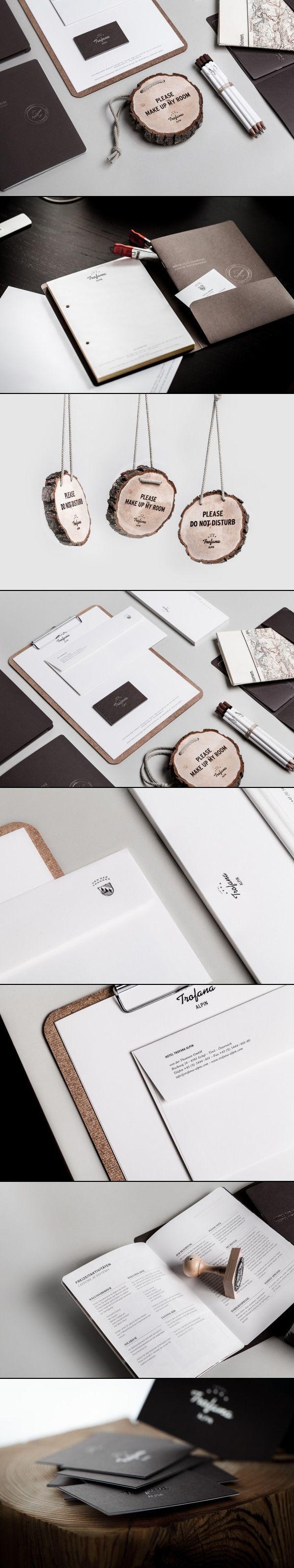 Hotel Trofana Alpin Corporate Identity via Design made in Germany.