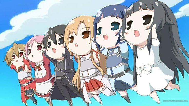 Sword Art Online this is so cute! <3