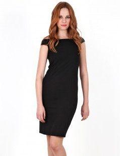Bardot black bodycon dress