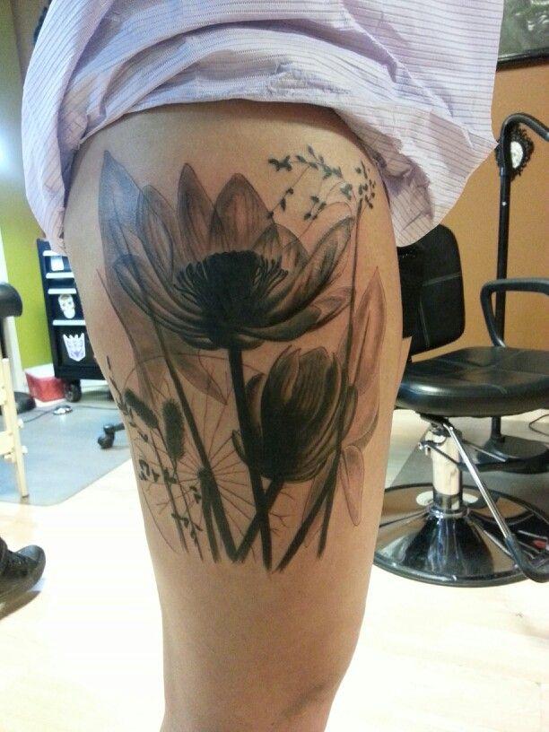 X Ray Flower Tattoo On The Left Inner Arm Tattoo Artist: X-ray Flower Tattoo By Jeremiah Klein