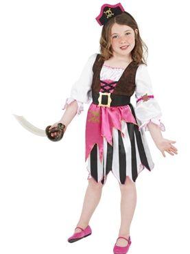 child pink pirate girl costume