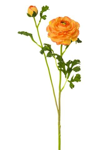 28 Ranunculus Spray Orange Artificial Flowers Wedding Artificial Flowers Ranunculus Flowers
