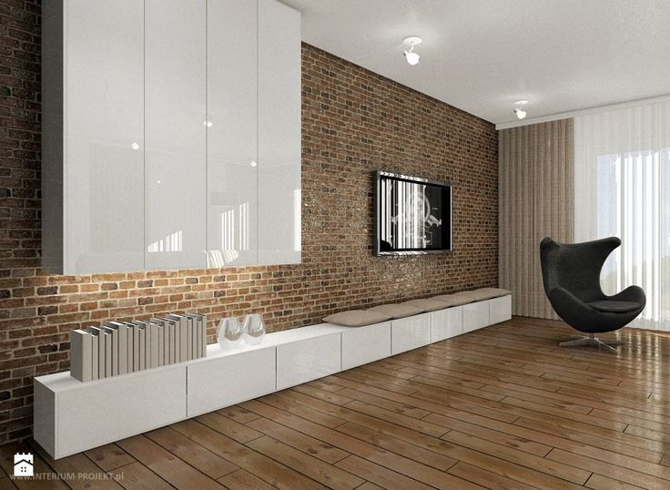 Salon z aneksem kuchennym i jadalnią - zdjęcie od Interium Projekt - Salon - Styl Skandynawski - Interium Projekt