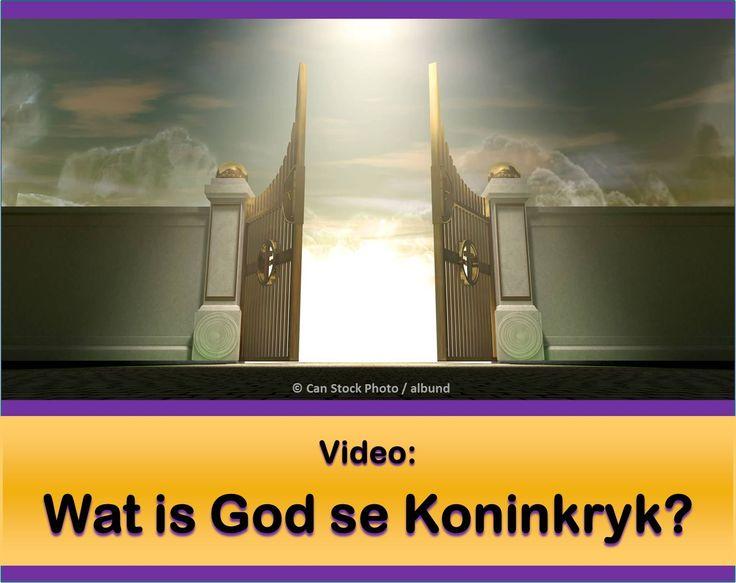 Wat is God se Koninkryk? Asseblief kyk na hierdie video: https://www.jw.org/af/publikasies/boeke/goeie-nuus-wat-van-god-kom/wat-is-god-se-koninkryk/video-koninkryk-kom/. Lees dan hierdie artikel: https://www.jw.org/af/publikasies/boeke/goeie-nuus-wat-van-god-kom/wat-is-god-se-koninkryk/. (What is God's Kingdom? Please watch the video. Then read the article.)