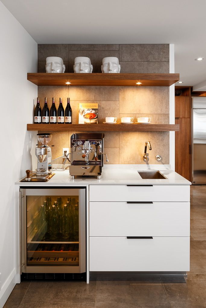 Every cocktail or coffee makers dream! Designed by Astro #astro #ottawa #kitchen #design