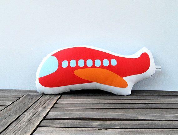 Red stuffed plane Soft pillow stuffed toy cotton children