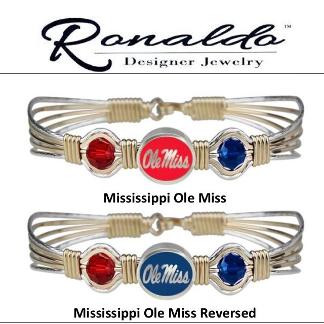 Ronaldo College Bracelets Ole Miss Most Styles Available 1 901 755 4388 Www Morethanwords Dorm Tailgating In Style Pinterest