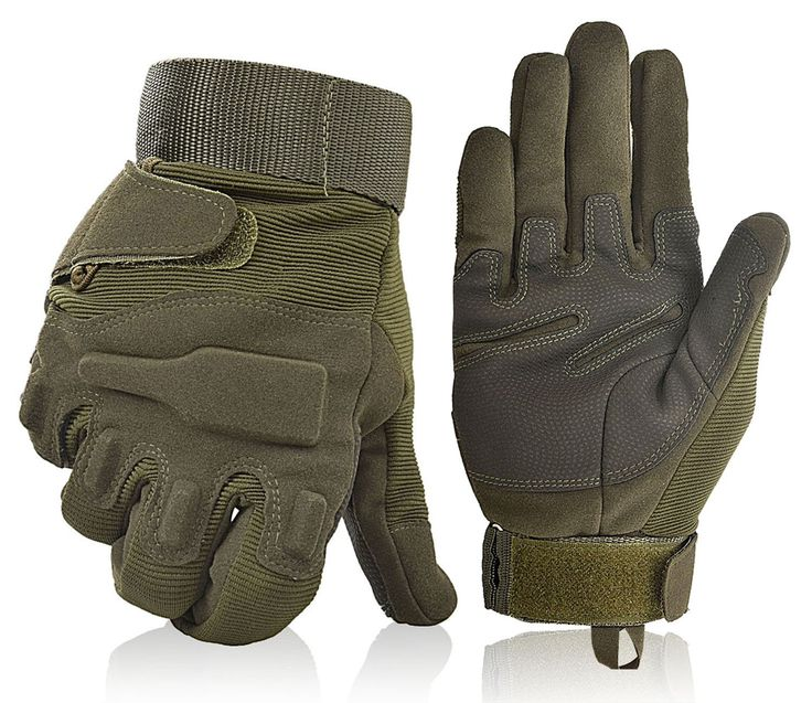 Unisex Motorcycle Gloves, Olive