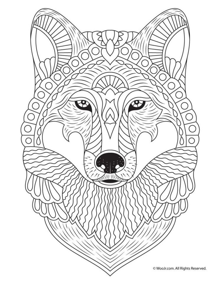 Fall Animal Adult Coloring Pages | Mandala coloring pages ... | free printable animal mandala coloring pages for adults