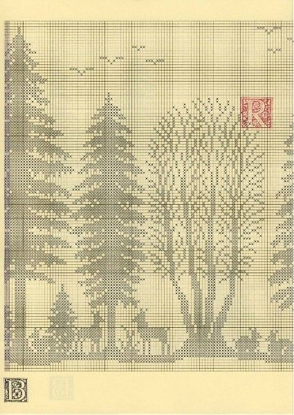 Szydełkomania Lesny paesaggio schema 6