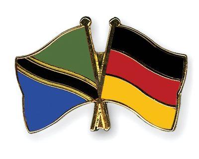 Crossed-Flag-Pins Tanzania-Germany